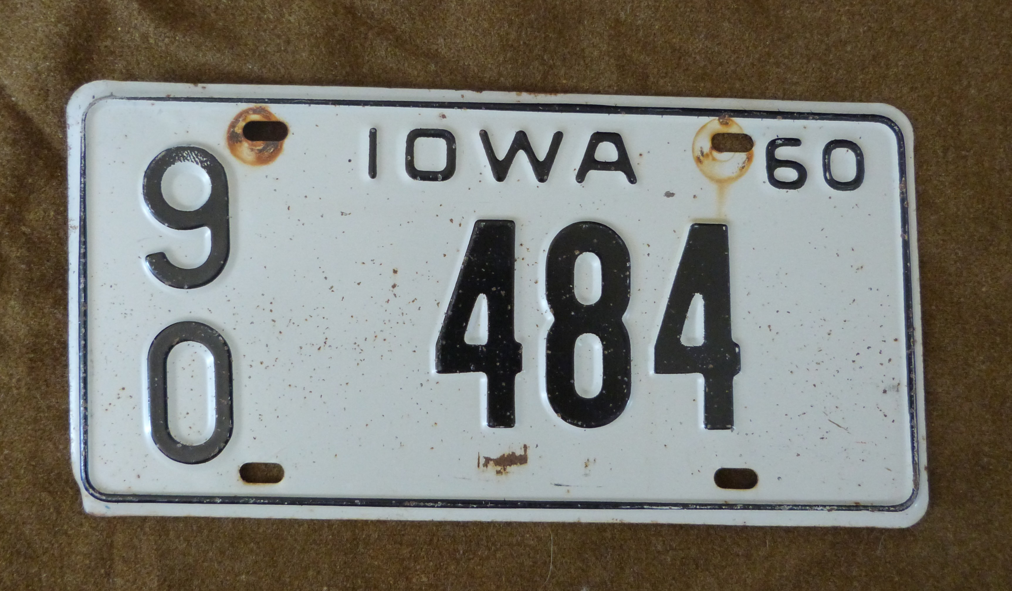 plaque d immatriculation originale iowa 1960 ww2 militaria objets et accessoires am ricains. Black Bedroom Furniture Sets. Home Design Ideas